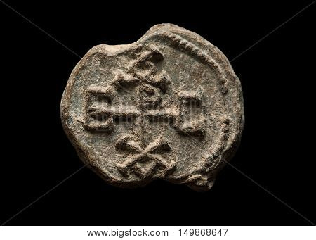 Ancient Post Seal With Symbols On It