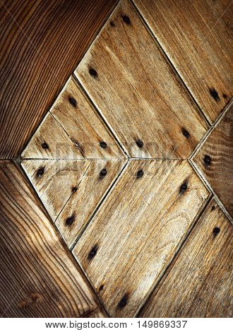 abstract background or texture detail pattern on old wooden door