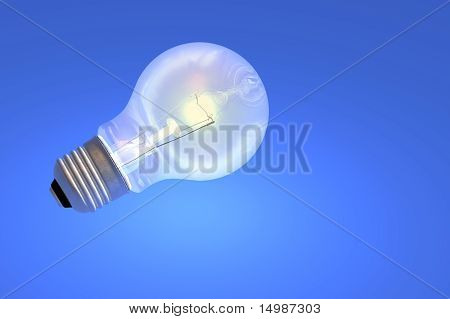 Light Bulb Tungsten Screw In Render