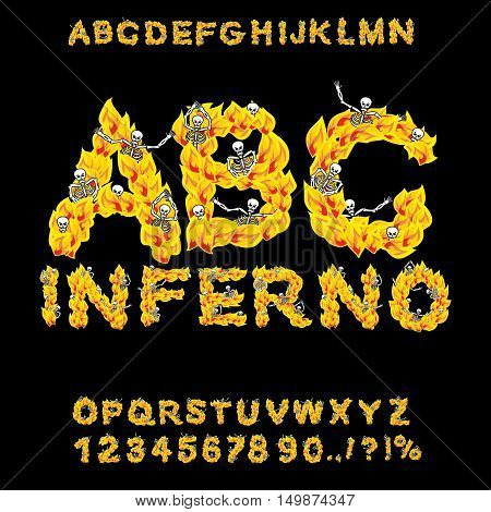 Inferno Abc. Hell Font. Fire Letters. Sinners In Hellfire. Hellish Alphabet. Scrape Down Flame For S
