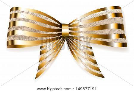Big Bow Of Striped Shiny Ribbon