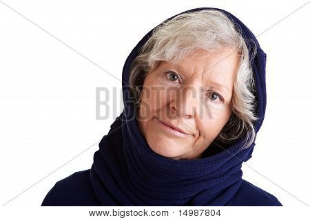Senior Woman In Winter