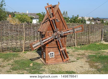 Reduced Copy Of A Wooden Mill