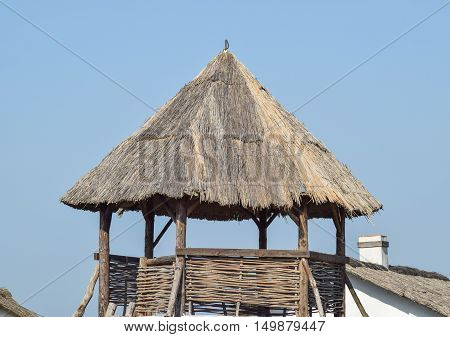 Watchtower With A Thatched Roof