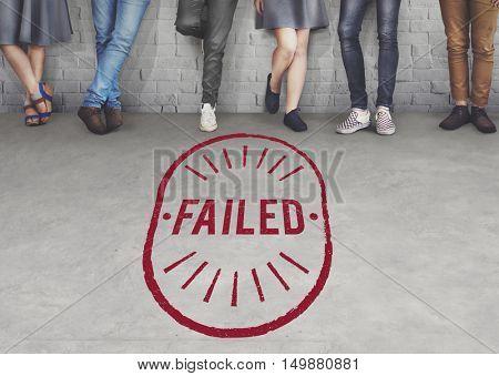 Failed Fiasco Loss Unsuccessful Graphic Concept