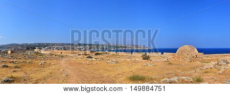 Rethymno city Greece Fortezza fortress landmark architecture panorama