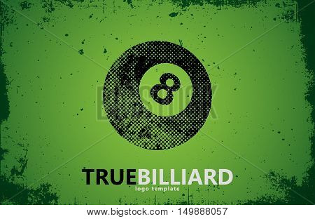 billiard. Billiard logo design. Billiard ball design