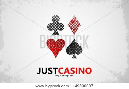 Casino logo icon. Casino poker, cards casino game.