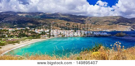 Beautiful authentic islands of Greece - Andros, Cyclades.