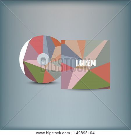 Template for advertising and corporate identity. Design of CD cover. Vector illustration.