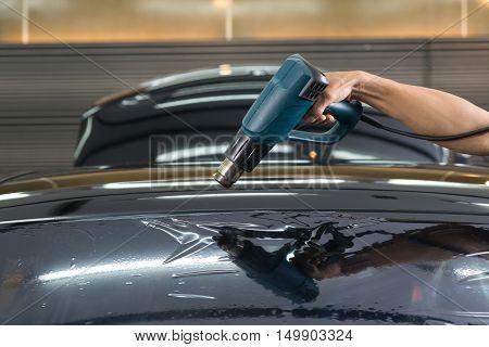 Car window tinting series : Heat shrinking windshield film