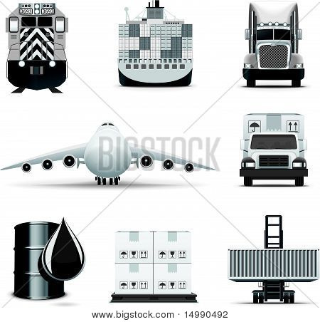 Logistic and transportation icons