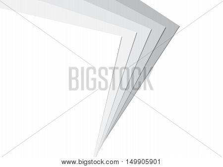 Stack Paper Greyscale Background Vector Illustration EPS10