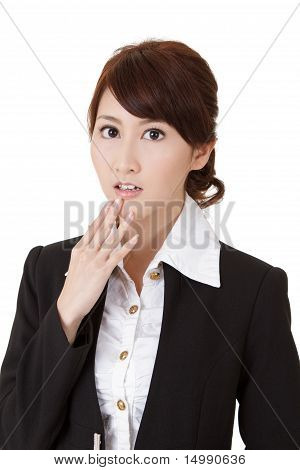 Surprised Young Business Woman