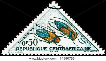 CENTRAL AFRICAN REPUBLIC - CIRCA 1962: A stamp printed in Central African Republic from the