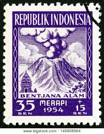 INDONESIA - CIRCA 1954: A stamp printed in Indonesia from the
