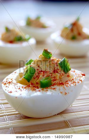 Classic devilled eggs