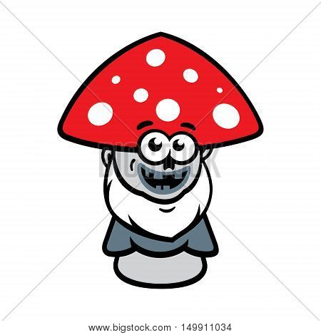 Poisonous amanita waits for victims. Isolated on a White Background