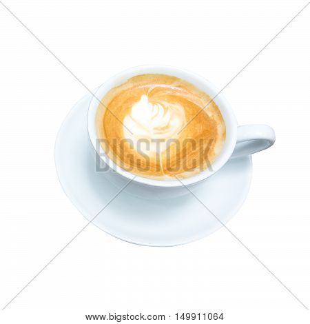 isolate coffee cup on white background whit clipping path