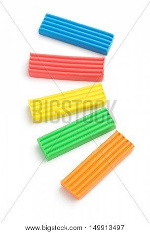 plasticine set isolated on white background