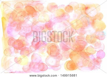 A vector artistic pink background texture in tender pastel tones. A festive frame for a birthday card or a wedding invitation