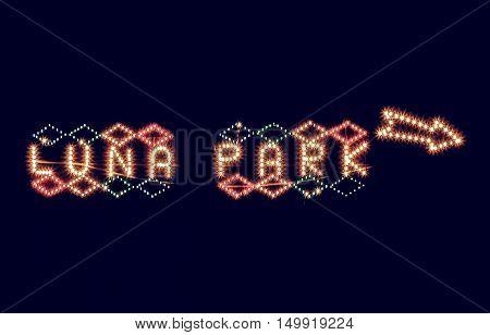 Vintage Looking Luna Park Sign