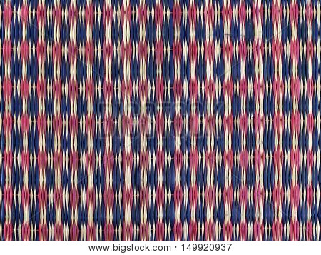 Background pattern of Thai weave mat, Asian-style home appliances