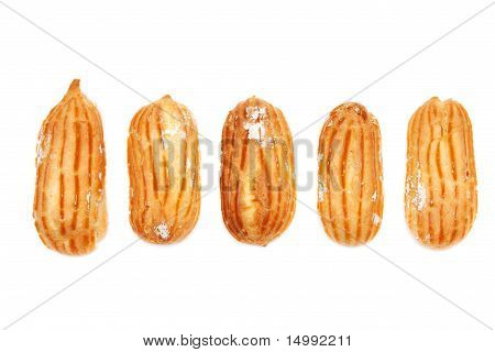 Delicious Eclairs Arranged Unlikely
