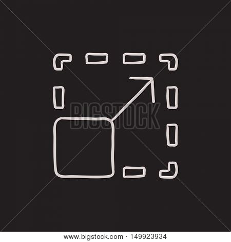 Scalability vector sketch icon isolated on background. Hand drawn Scalability icon. Scalability sketch icon for infographic, website or app.