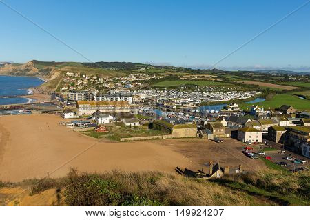 West Bay town Dorset England uk near Bridport