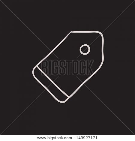 Empty tag vector sketch icon isolated on background. Hand drawn Empty tag icon. Empty tag sketch icon for infographic, website or app.