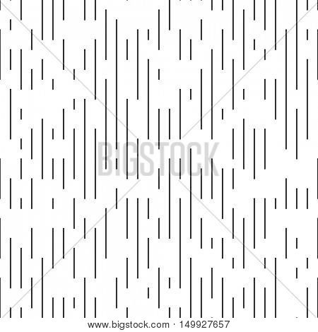 Vector Thin Line Pattern. Minimal Monochrome Design. Seamless