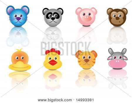 reflective animal faces