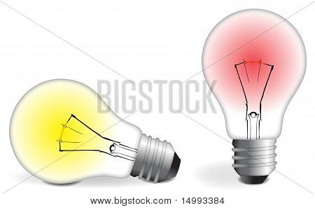 Two Colorful Bulbs