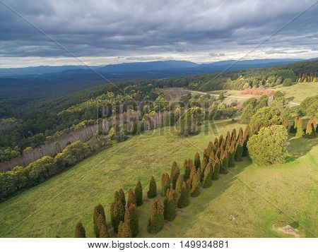 Aerial View Of Dandenong Ranges