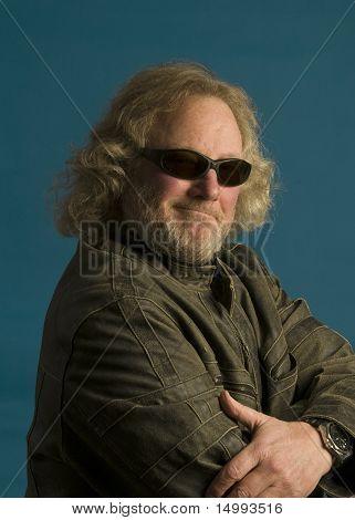 Long Hair Motorcycle Rider Sunglasses