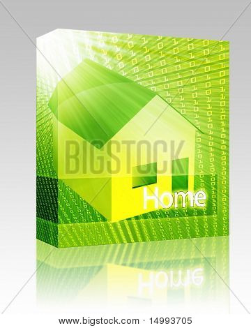 Software package box Online housing real estate internet website ecommerce