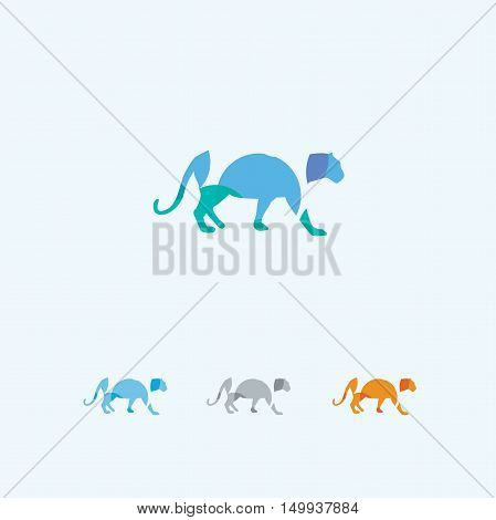 Panther logo, colorful leopard, tiger vector, lion, animal, wildlife
