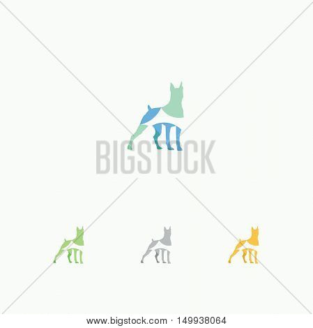 Dog logo, colorful animal vector, dogs, Shepard vector