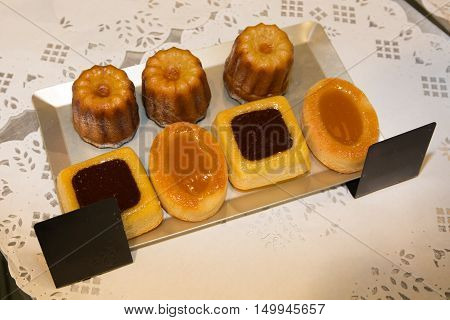 French Tasty Dessert In A Pastry For Customer
