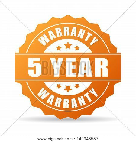 5 years warranty icon vector illustration isolated on white background