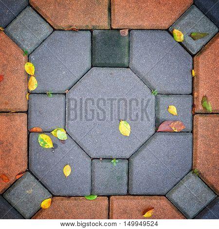 brickwork, background and texture concept. dropfootpath pattern.
