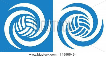 volleyball cyclone 1 / Volleyball or water polo icon in two various coloring. Vector image for sports design.