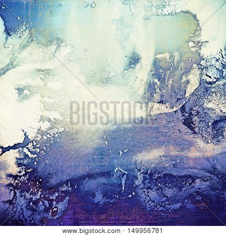 Antique frame or background with vintage feeling. Aged texture with different color patterns: gray; blue; purple (violet); white; cyan