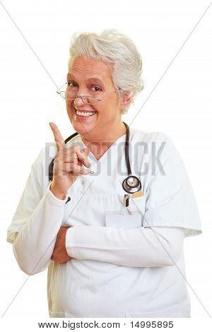 Doctor Shaking Her Index Finger