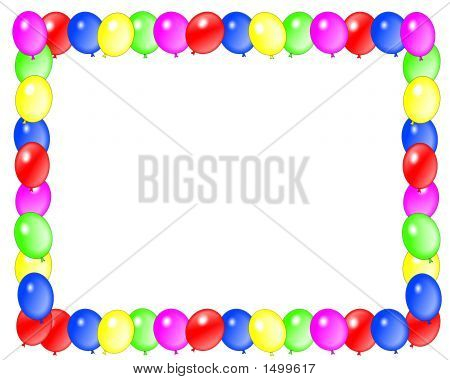Party Balloon Frame Horizontal Image & Photo | Bigstock