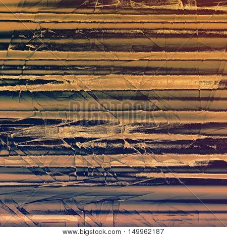 Vintage frame, grunge background with old style decor elements and different color patterns: yellow (beige); brown; gray; blue; purple (violet)