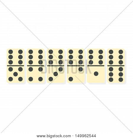 Domino icon in cartoon style isolated on white background. Board games symbol vector illustration.
