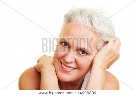 Content Senior Woman Smiling