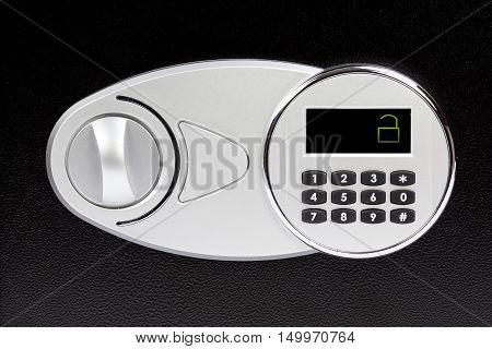 Numeric Keypad Of Safe Deposit Box, Close-up